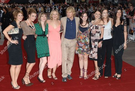 Owen Wilson with contestants from 'How Do You Solve a Problem Like Maria' - Connie Fisher, Siobhan Dillon, Abi Finley, Aoife Mulholland, Owen Wilson, Leanne Dobinson, Simona Armstrong, Helena Blackman and Meliz Serman