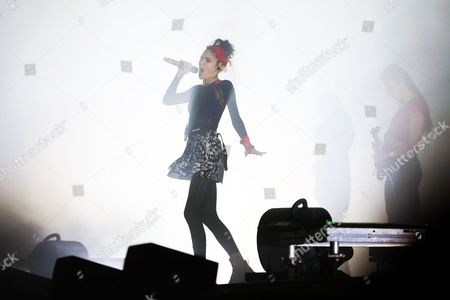 Grimes performs on The Meadows stage