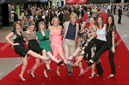 Owen Wilson and contestants from 'How Do You Solve a Problem Like Maria' - Connie Fisher, Siobhan Dillon, Abi Finley, Aoife Mulholland, Owen Wilson, Leanne Dobinson, Simona Armstrong, Helena Blackman and Meliz Serman
