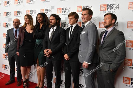 Bill Migliore, Kimberly Steward, Lauren Beck, Casey Affleck, Lucas Hedges, Kevin J. Walsh and guest