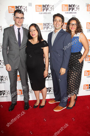 Alex Horwitz, Lin-Manuel Miranda and Vanessa Nadal (wife)