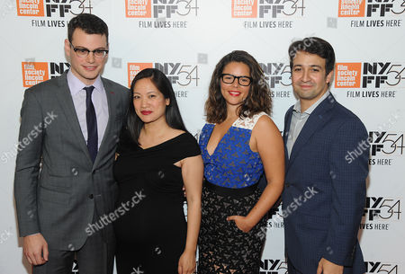 Alex Horwitz, Vanessa Nadal and Lin-Manuel Miranda