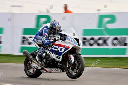 Ian Hutchinson (11) Tyco Suzuki during warm up at the BSB Championship at the TT Circuit,  Assen