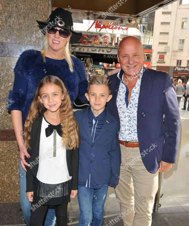 Stock Image of Nikki Welch, Aldo Zilli, son Rocco and daughter Tilly