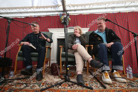 Stock Picture of Edwyn Collins and Grace Maxwell in conversation with Vic Galloway - Vic Galloway, Grace Maxwell and Edwyn Collins