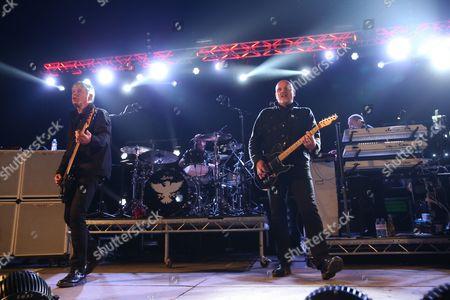 "Stock Image of The Stranglers - Jean-Jacques ""JJ"" Burnel, Jim MacAulay, Barry ""Baz"" Warne and David Greenfield"
