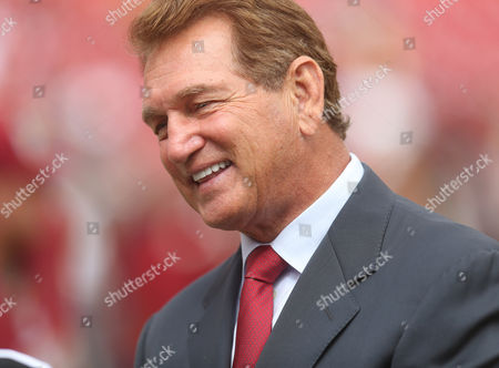 Former Washington Redskins QB Joe Theismann pictured prior to a game between the Washington Redskins and Cleveland Browns at FedEx Field in Landover, MD on Photo/ Mike Buscher / Cal Sport Media