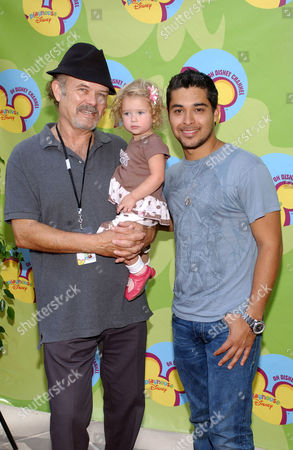 Stock Image of Kurtwood Smith with granddaughter Abby and Wilmer Valderrama