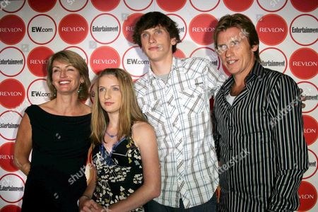 Ann Lembeck, Devin Leary, Jack Leary and Denis Leary