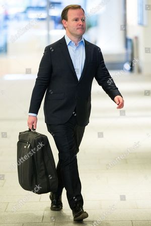 Craig Oliver, former Director of Communications for David Cameron arrives at the BBC at the Mailbox Birmingham for the Marr Show