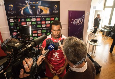 2016/2017 EPCR European Rugby Champions Cup & European Rugby Challenge Cup Launch, Paris, France 3/10/2016. Thierry Dusautoir of Toulouse speaking to the media today