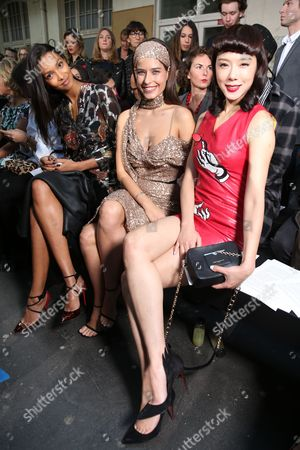 Editorial image of John Galliano show, Front Row, Spring Summer 2017, Paris Fashion Week, France - 02 Oct 2016