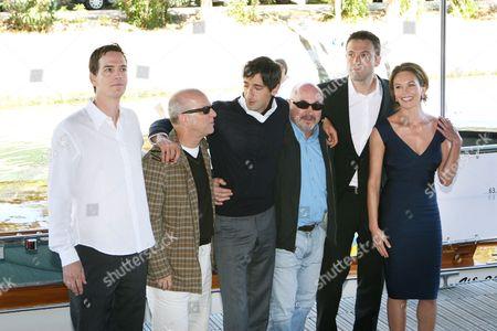 Stock Picture of Glenn Williamson, Allen Coulter, Adrien Brody, Bob Hoskins, Ben Affleck and Diane Lane