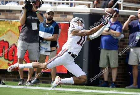 David Eldridge Virginia's David Eldridge (11) reaches for a pass during the first half of an NCAA college football game against Duke in Durham, N.C., . The pass was incomplete