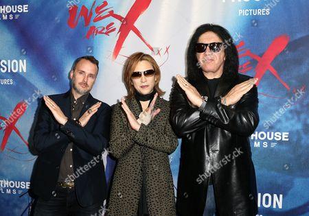 Stephen Kijak, Yoshiki and Gene Simmons