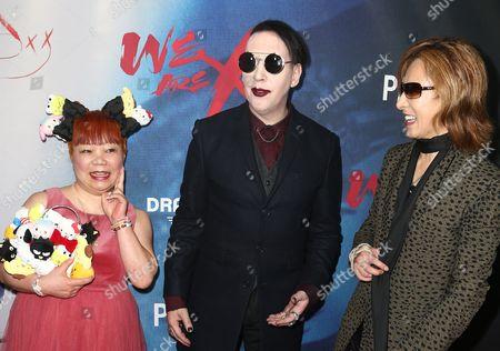 Stock Image of Yuko Yamaguchi, Marilyn Manson and Yoshiki