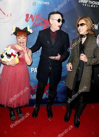 Stock Picture of Yuko Yamaguchi, Marilyn Manson and Yoshiki
