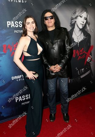 Stock Picture of Sophie Tweed-Simmons and Gene Simmons