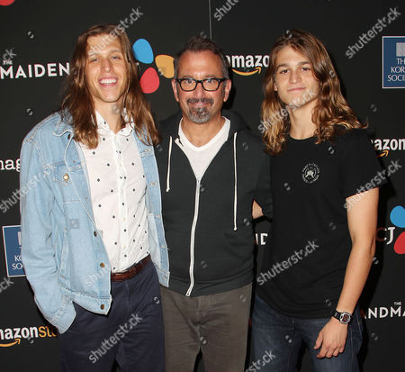 Andrew Jarecki with sons