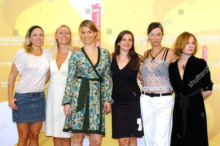 Cast of Fallen - Birgit Minichmayr, Gabriela Hegedus, Kathrin Resetarits, Barbara Allen, Ursula Strauss and Nina Proll