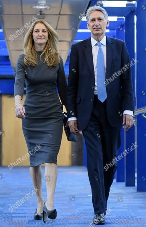 Chancellor Philip Hammond and his wife Susan schneider WALKER attend the 2016 Conservative Party Conference.