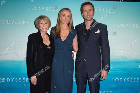 Francine Cousteau, Alexandra Cousteau and Philippe Cousteau