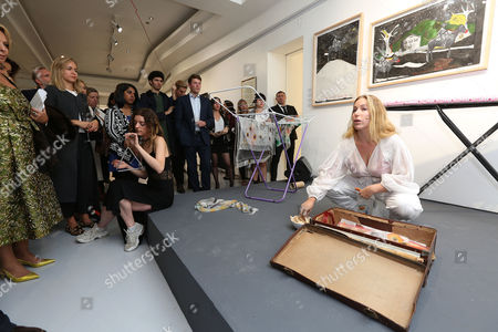 Editorial photo of Rachel Libeskind 'The Circumcision of Christ and Modern Oblivion' exhibition, Contini Art UK, London, UK - 03 Oct 2016