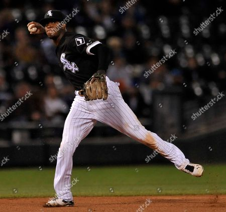 Tim Anderson Chicago White Sox shortstop Tim Anderson throws to first base while Minnesota Twins' James Beresford reaches first for a single during the seventh inning of a baseball game, in Chicago