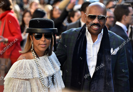 Stock Photo of Marjorie Bridges-Woods and Steve Harvey arrives at Chanel Spring-Summer 2017 ready-to-wear fashion collection presented in Paris