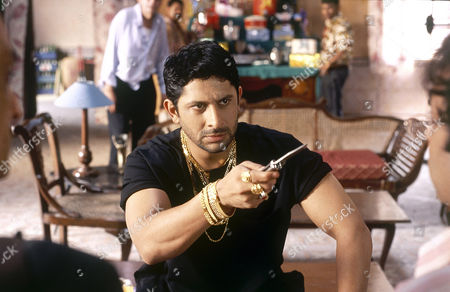 Indian film actor Arshad Warsi, who plays Circuit, in a scene from the film comedy 'Lage Raho Munna Bhai'