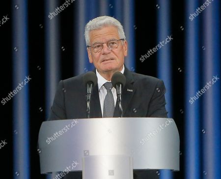 Joachim Gauck German President Joachim Gauck speaks at a ceremony on the 75th anniversary of the 1941 Babi Yar massacre in Kiev, Ukraine, . Nazi troops machine-gunned tens of thousands of Jews during WWII in Babi Yar ravine