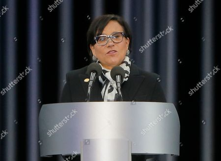 Penny Pritzker U.S. Commerce Secretary Penny Pritzker speaks at a ceremony on the 75th anniversary of the 1941 Babi Yar massacre in Kiev, Ukraine, . Nazi troops machine-gunned tens of thousands of Jews during WWII in Babi Yar ravine