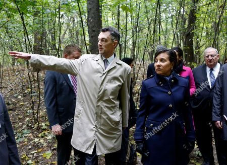 Penny Pritzker U.S. Commerce Secretary Penny Pritzker, front right, attends a tour in Babi Yar ravine where Nazi troops machine-gunned tens of thousands of Jews during WWII, in Kiev, Ukraine, . Ukraine marked the 75th anniversary of the 1941 Babi Yar massacre
