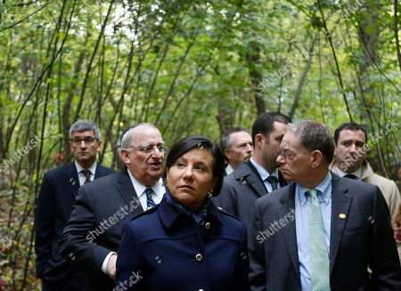 Penny Pritzker U.S. Commerce Secretary Penny Pritzker, centre, attends a tour in Babi Yar ravine where Nazi troops machine-gunned tens of thousands of Jews during WWII, in Kiev, Ukraine, . Ukraine marked the 75th anniversary of the 1941 Babi Yar massacre