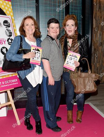 Melanie Hill, Liam Bairstow and Jennie McAlpine