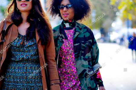Editorial photo of Street Style, Spring Summer 2017, Paris Fashion Week, France - 03 Oct 2016