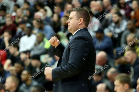 Andy Johnson Findlay College Prep's head coach Andy Johnson is seen against Athlete Institute during a high school basketball game in the Hoophall Classic at Springfield College on in Springfield, MA