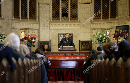 "Stock Image of David Dinkins Former New York City Mayor David Dinkins speaks during a funeral service for Abe Vigoda in New York, . The actor who played Phil Fish on the 1970s TV series ""Barney Miller"" and Sal Tessio in the classic movie ""The Godfather"" was mourned at a funeral Sunday in New York"
