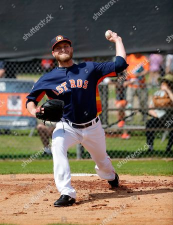 Kevin Chapman Houston Astros pitcher Kevin Chapman throws during a spring training baseball workout, in Kissimmee, Fla