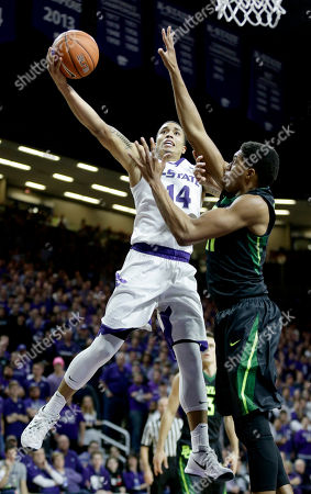 Justin Edwards Kansas State's Justin Edwards (14) shoots under pressure from Baylor's Terry Maston during the second half of an NCAA college basketball game, in Manhattan, Kan. Baylor won 82-72