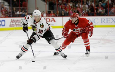 Editorial image of Blackhawks Hurricanes Hockey, Raleigh, USA