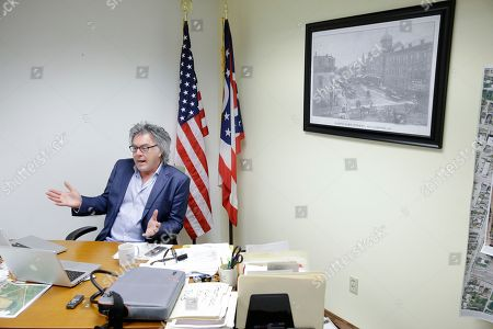 Drew Hastings Hillsboro, Ohio, Mayor and veteran standup comedian Drew Hastings is interviewed in his office, in Hillsboro, Ohio. A court-appointed special prosecutor from the state auditor's office is among those investigating Hastings. Allegations have included improper use of city trash bins and falsifying his residency in Hillsboro, 60 miles east of Cincinnati