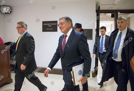 Leon Panetta Former Defense Secretary Leon Panetta, center, is escorted to a secure floor on Capitol Hill in Washington, to be questioned in a closed-door hearing of the House Benghazi Committee. The panel, chaired by Rep. Trey Gowdy, R-S.C., is investigating the 2012 attacks on the U.S. consulate in Benghazi, Libya, where a violent mob killed four Americans, including Ambassador Christopher Stevens