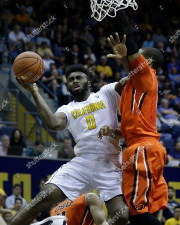 Jaylen Brown, Maurice O'Field California's Jaylen Brown, left, shoots against Oregon State's Gary Payton II in the second half of an NCAA college basketball game, in Berkeley, Calif