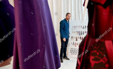 Delpozo Fall-Winter 2016 Delpozo designer Josep Font makes last-minute rounds backstage before showing Delpozo Fall-Winter 2016 collection during Fashion Week, in New York