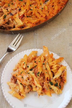 Editorial picture of Food Kitchenwise Baked Penne, Concord, USA