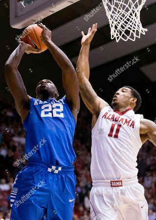 Shannon Hale, Alex Poythress Kentucky forward Alex Poythress (22) scores against Alabama forward Shannon Hale (11) during the first half of an NCAA college basketball game, in Tuscaloosa, Ala. Kentucky won 77-61