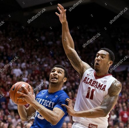 Amal Murray, Shannon Hale Kentucky guard Jamal Murray drives the ball to the basket against Alabama forward Shannon Hale (11) during the first half of an NCAA college basketball game, in Tuscaloosa, Ala. Kentucky won 77-61