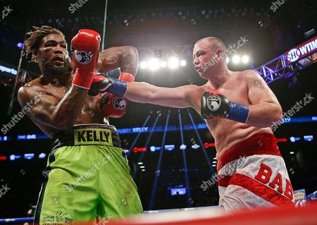 Stock Picture of Adam Kownacki, Danny Kelly Adam Kownacki, right, punches Danny Kelly during the fifth round of a boxing match, in New York. Kownacki won the match
