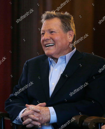 """Ryan O'Neal Actor Ryan O'Neal participates in a talk with students on the campus of Harvard University in Cambridge, Mass., more than 45 years after the release of the 1970 classic """"Love Story."""" O'Neal and Ali MacGraw, now in their 70s, currently are co-starring in a national tour of """"Love Letters,"""" which is about a man and a woman who maintain contact over 50 years through notes, cards and letters"""